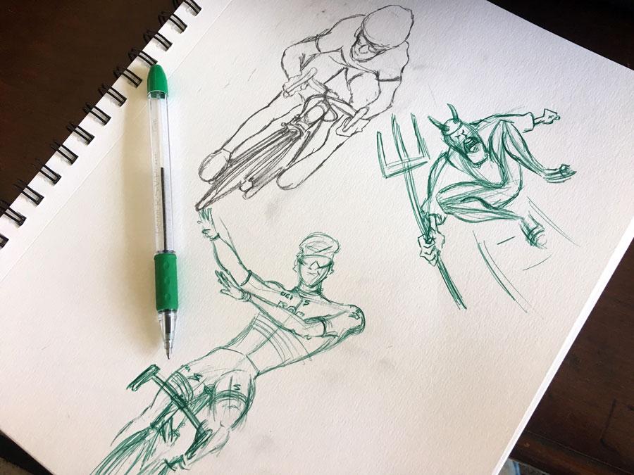 The Line Art Challenge Sketches For Days : My day sketch challenge days thru